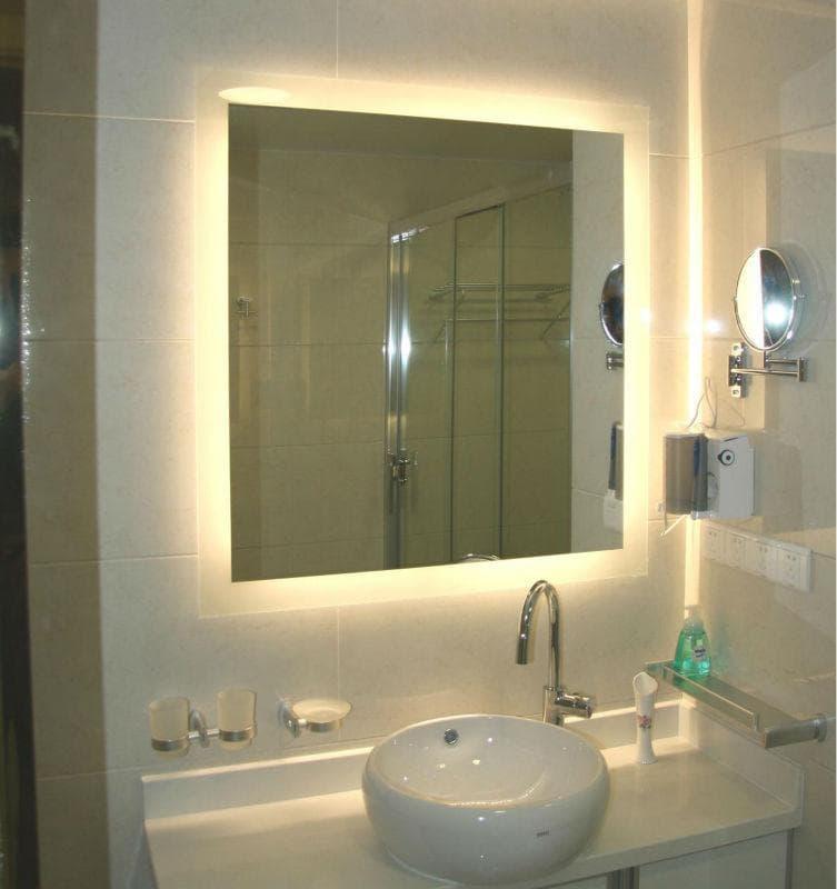 Vidraçaria Show Glass  Vidros, Espelhos e Molduras » Espelho para Banheiro -> Espelho Banheiro Moderno