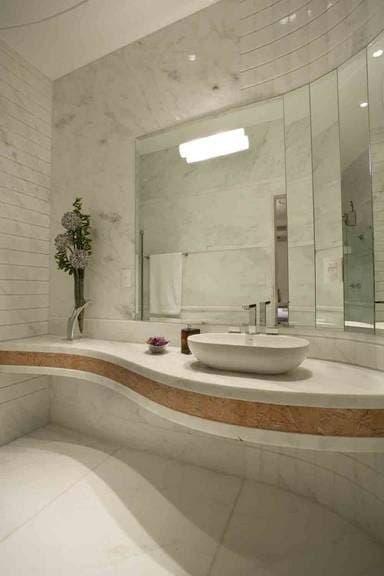 Vidraçaria Show Glass  Vidros, Espelhos e Molduras » Espelho para Banheiro -> Banheiro Pequeno Assim Eu Gosto
