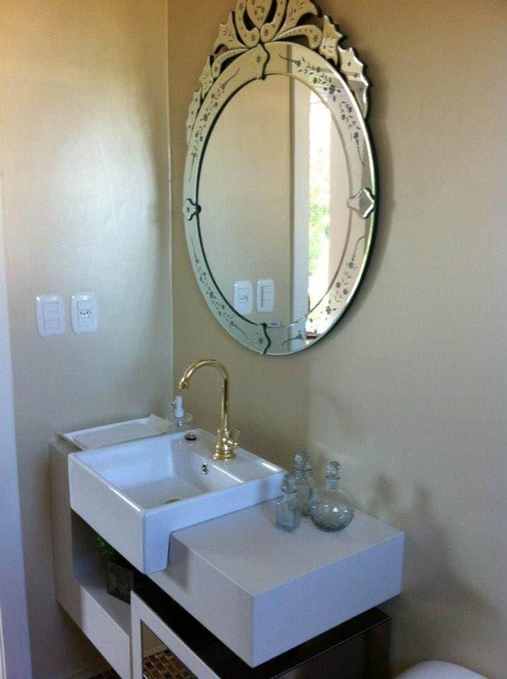 Vidraçaria Show Glass  Vidros, Espelhos e Molduras » Espelho para Banheiro -> Armario De Banheiro Com Espelho Oval