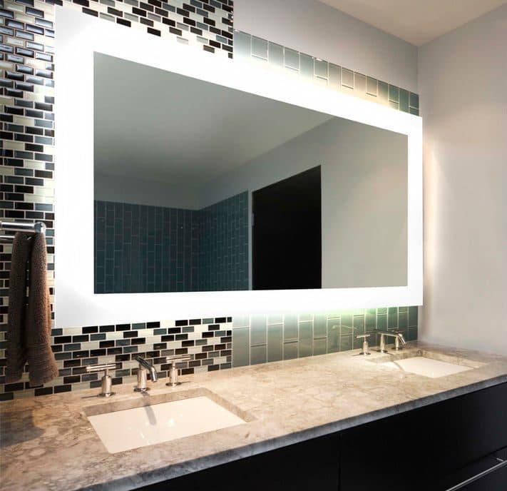 Espelho com led vidra aria show glass espelhos vidros for Designer com