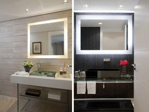 Ideas de dise o espejos con luz led decoraci n de - Espejos con diseno ...