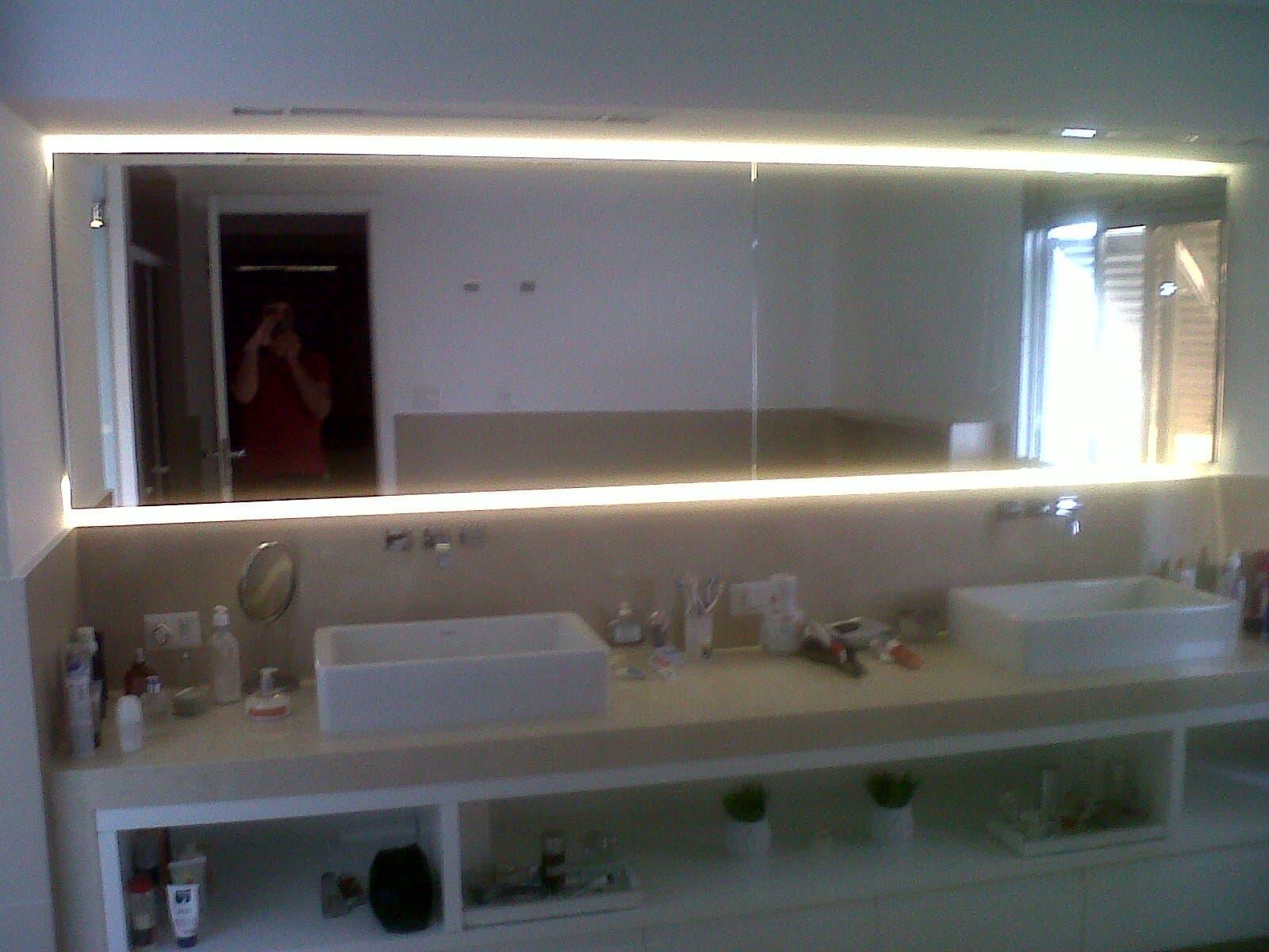 Espelho Com Led Vidra Aria Show Glass Espelhos Vidros E Molduras ~ Espelho Grande Para Quarto Barato