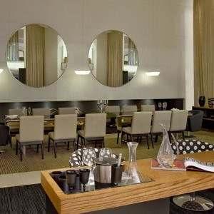 Espelho redondo restaurante
