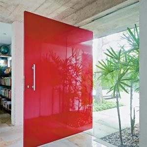 Porta de Vidro Colorido