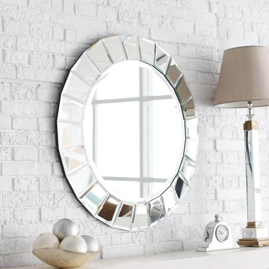 Espelho Redondo Bisotê Sala