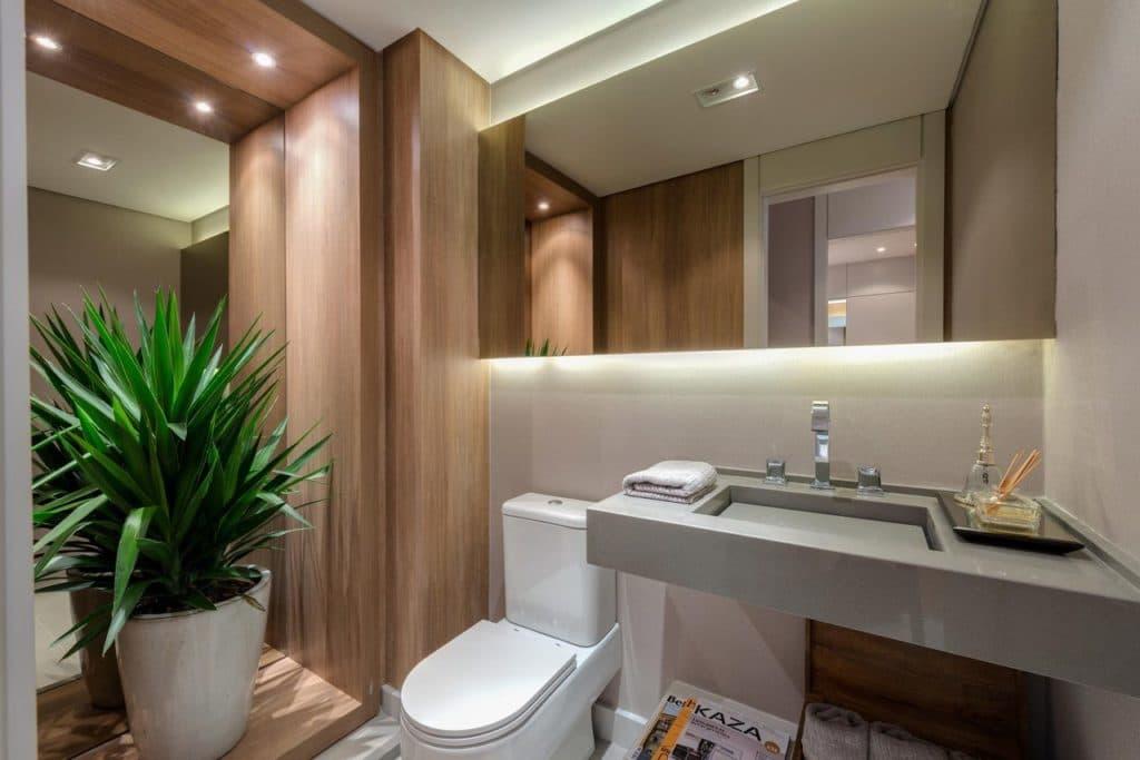 Espelho Banheiro Flutuante com LED