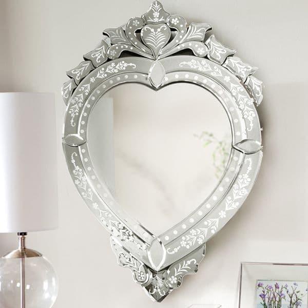 Espelho Coração Decorativo Veneziano Coração
