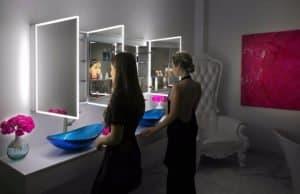 Espelheira com LED Iluminado para Banheiro