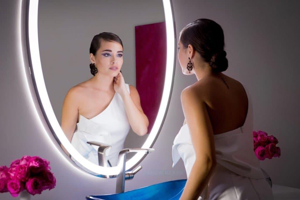 Espelho com LED Iluminado OVAL