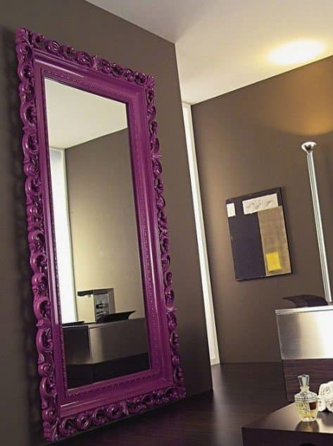 Espelho Com Moldura Roxa