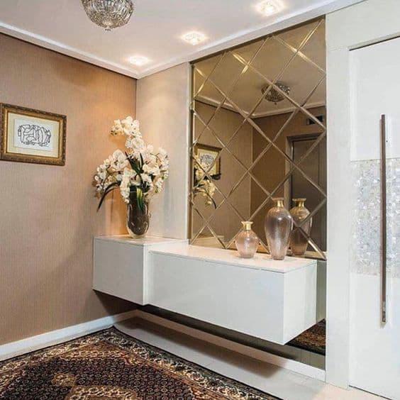 Espelho Decorativo de Parede Hall de Entrada