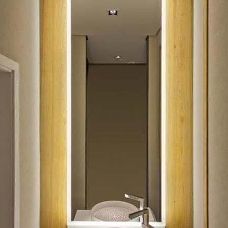 Espelho com LED Flutuante Banheiro