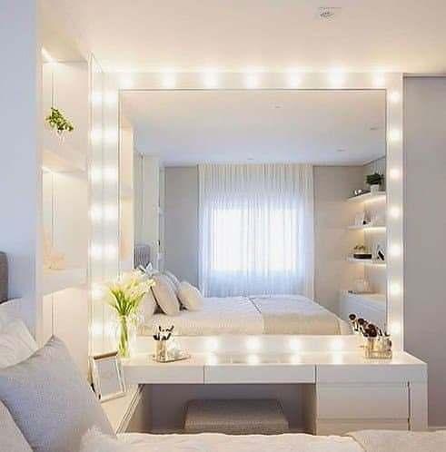 Espelho Com LED Penteadeira Quarto Closet Camarim