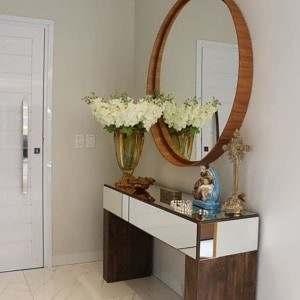 Espelho Decorativo Redondo Banheiro Hall de Entrada