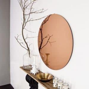 Espelho Decorativo Redondo Bronze Sala