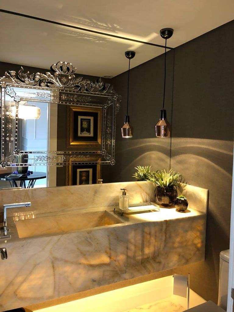 Espelho para Banheiro Veneziano Sob Espelho