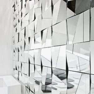 Parede de Espelho Mosaico
