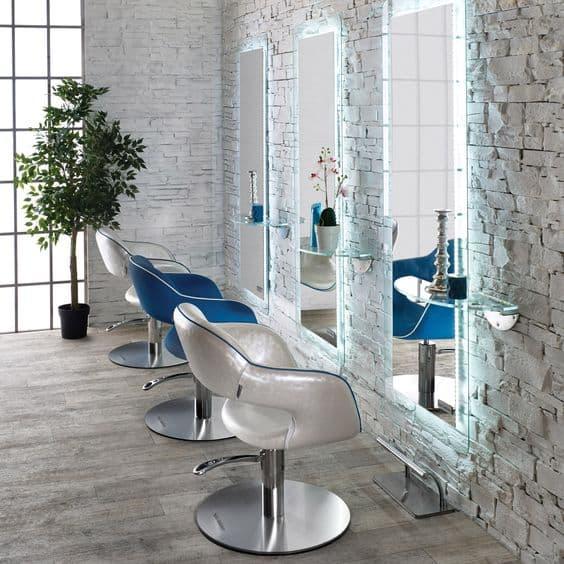 Espelho Flutuante com LED para Salão de Beleza