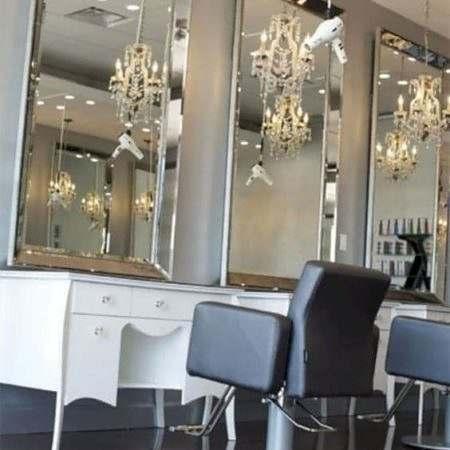 Espelho com Moldura de Espelho para Salão de Beleza