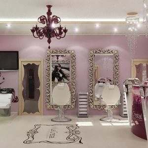 Espelho com Moldura Provençal para Salão de Beleza