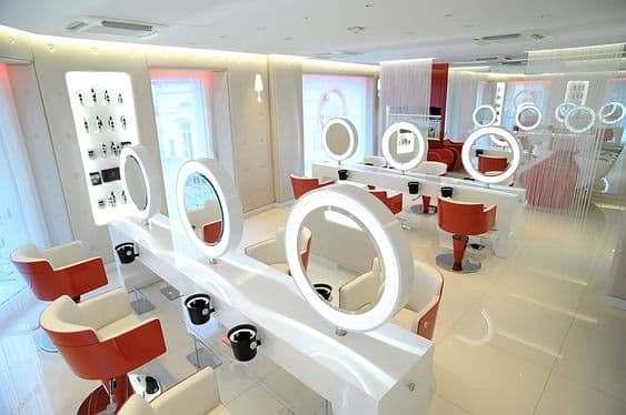Espelho Iluminado Redondo para Salão de Beleza