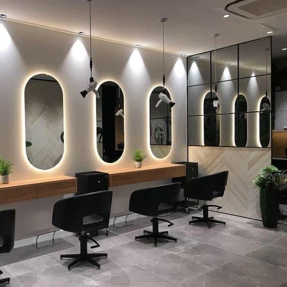 Bancada com Espelho para Salão de Beleza