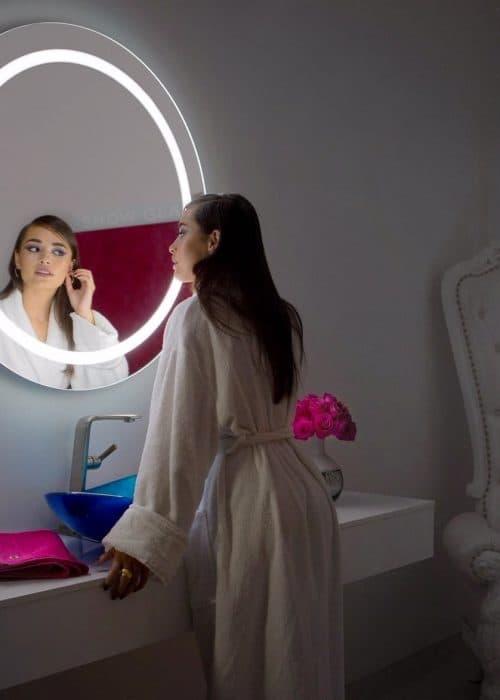 Espelho com LED Iluminado Redondo