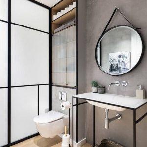 Espelho Decorativo Redondo Banheiro ADNET
